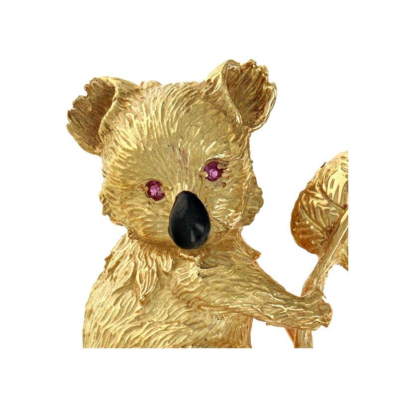 Estate Radcliffe Koala Bear Pin