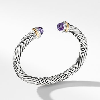Cable Classics Collection Bracelet with Amethyst and 14K Gold