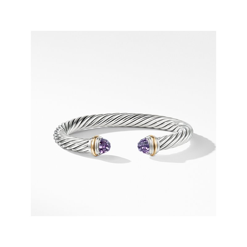David Yurman Cable Classics Collection Bracelet with Amethyst and 14K Gold