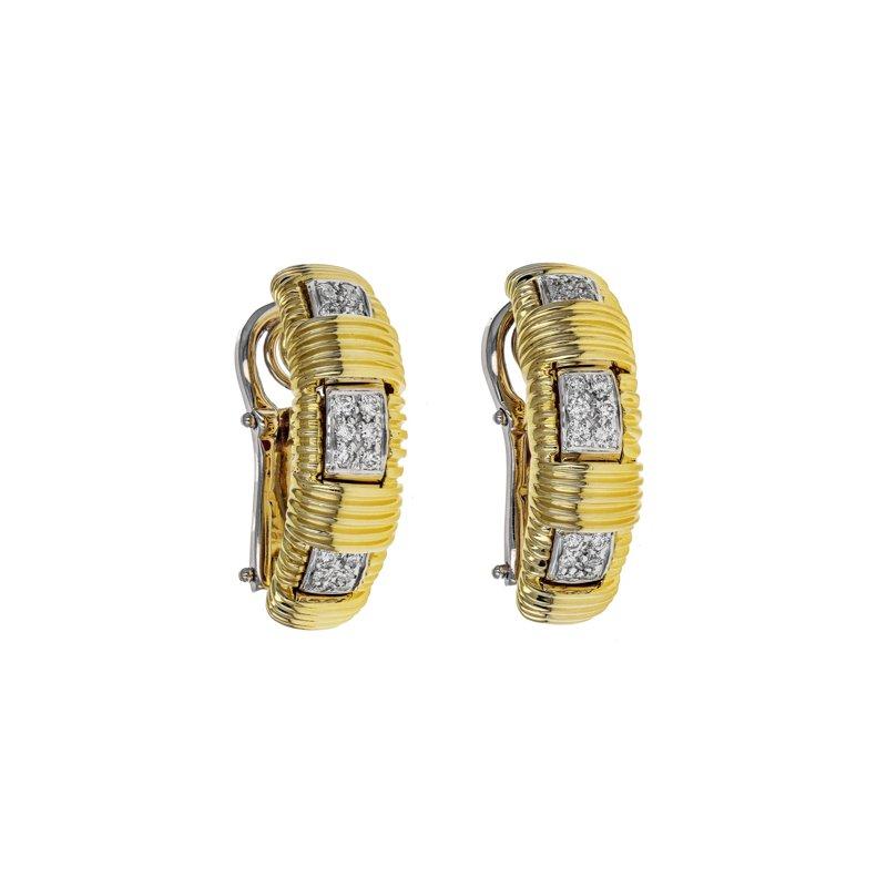 Estate Roberto Coin Diamond Appassionata Single Row Earrings