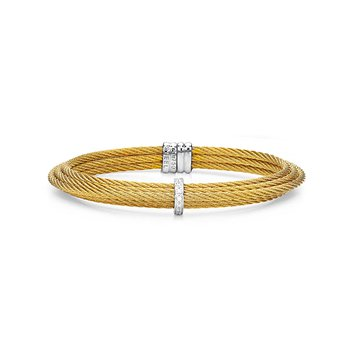 Yellow Cable Tiered Stackable Bracelet