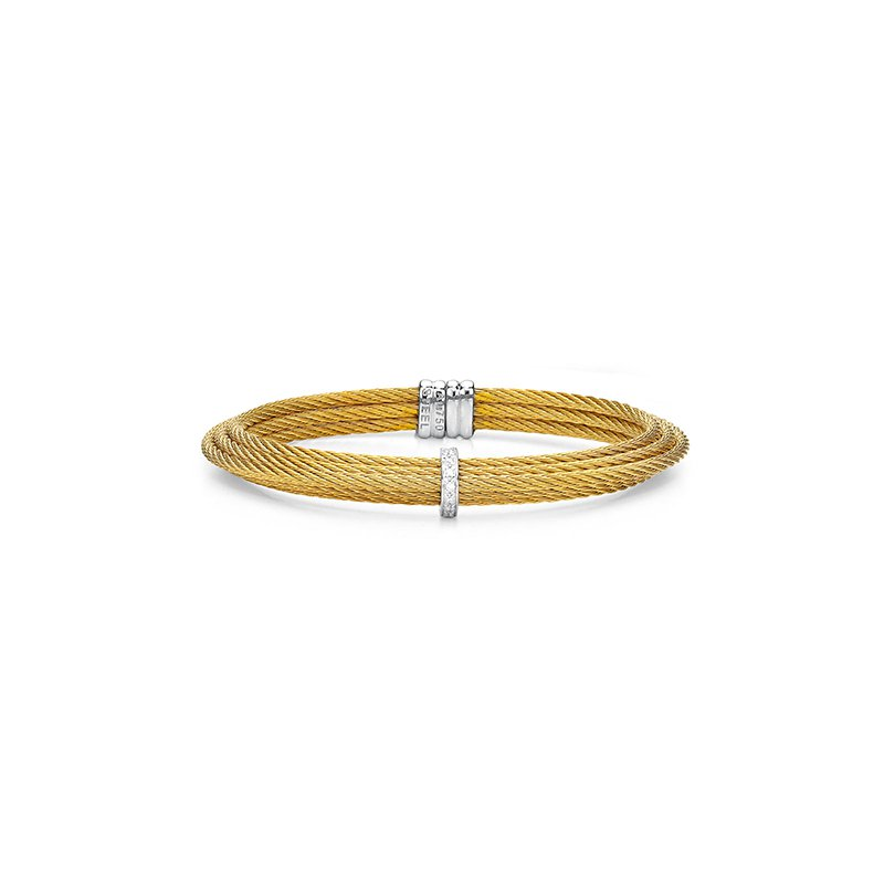 ALOR Yellow Cable Tiered Stackable Bracelet