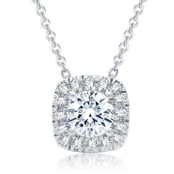 0.50 CTTW Diamond Pendant