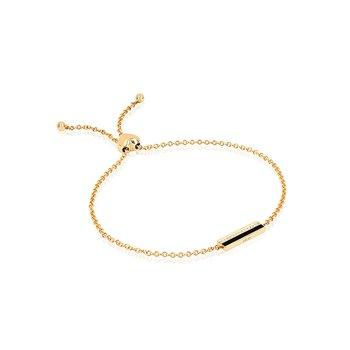 Diamond & Black Enamel Bar Bracelet