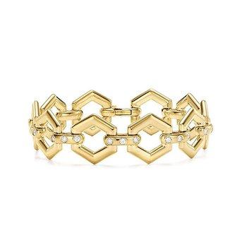 Beehive Link Bracelet