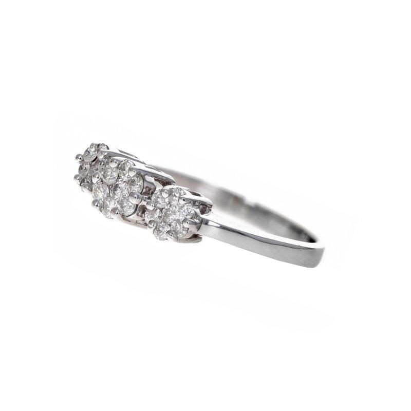 Estate Radcliffe Three Flower Diamond Cluster Ring