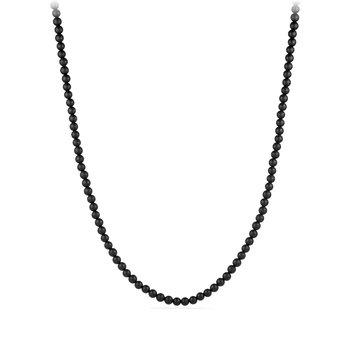 Spiritual Bead Necklace with Black Onyx
