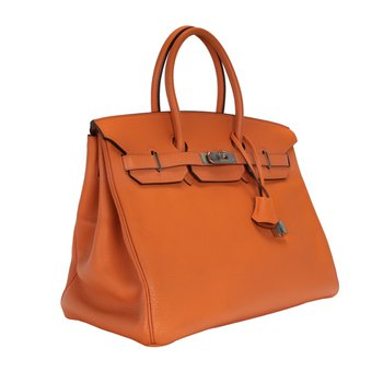 35cm Orange Birkin Bag