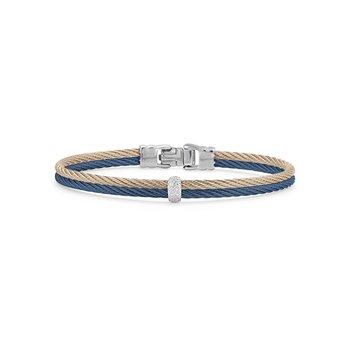 Blueberry & Carnation Double Cable Bracelet