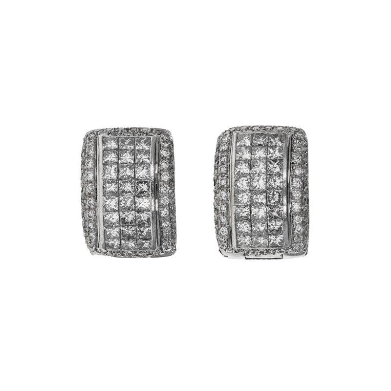 Estate Radcliffe Diamond Huggie Earrings