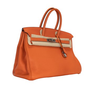 35cm Orange Birkin Bag