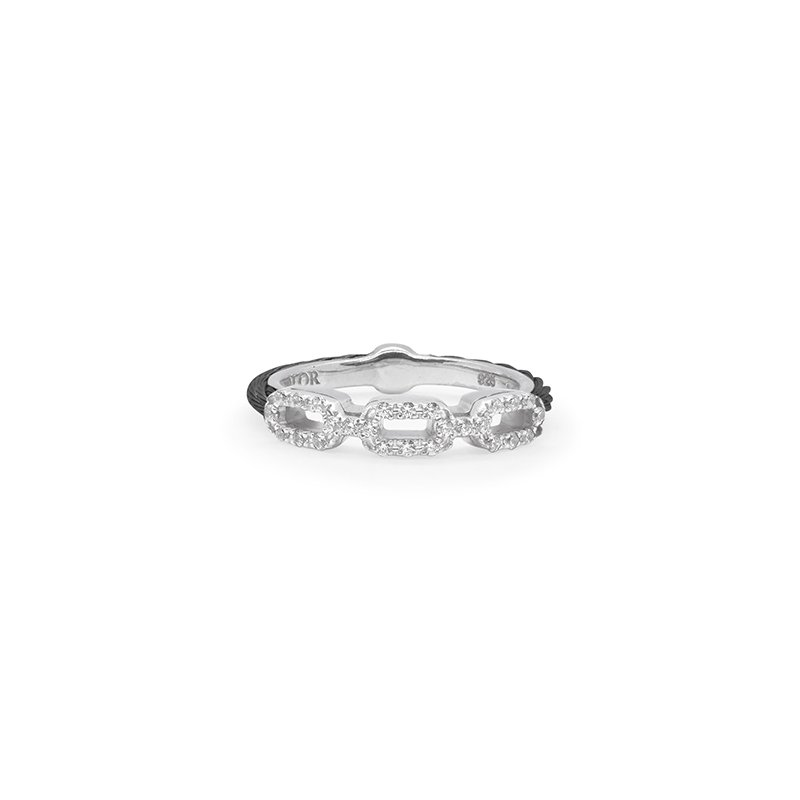 ALOR Layered Links Stacking Ring