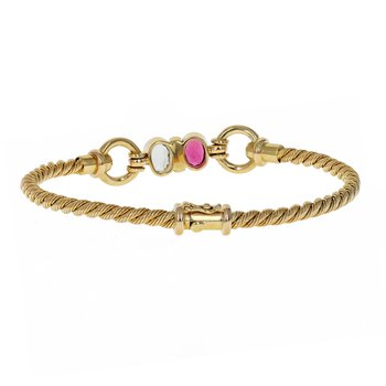 Gemstone Cable Bracelet