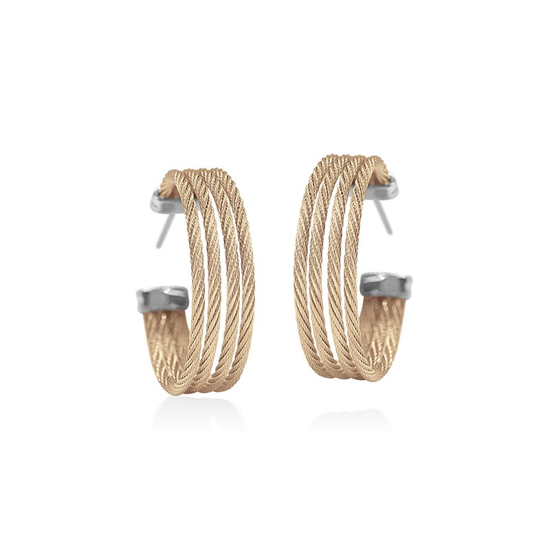 ALOR Carnation Cable Hoop Earrings