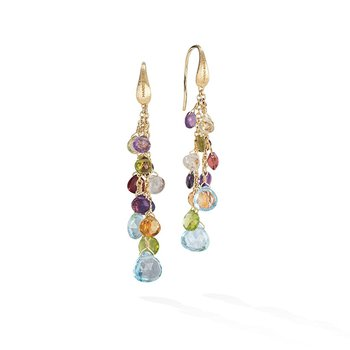 Paradise Collection Mixed Gemstone Multi-Strand Earrings