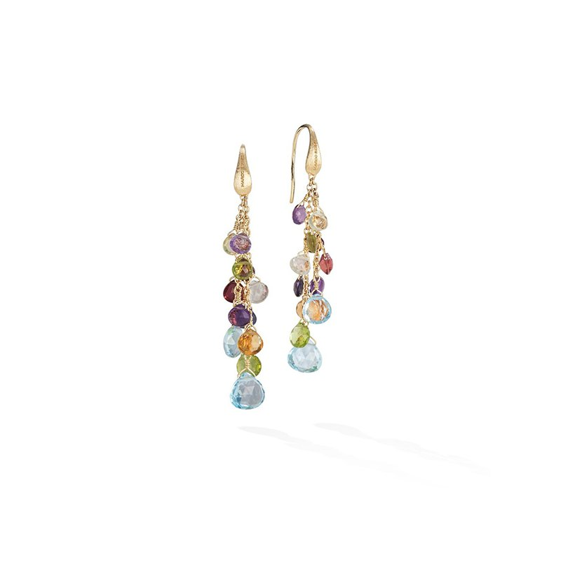 Marco Bicego Paradise Collection Mixed Gemstone Multi-Strand Earrings
