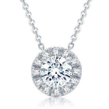 0.30 CTTW Diamond Pendant