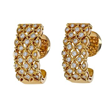Diamond Lattice Earrings