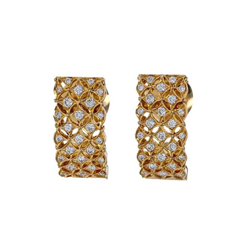 Estate Radcliffe Diamond Lattice Earrings