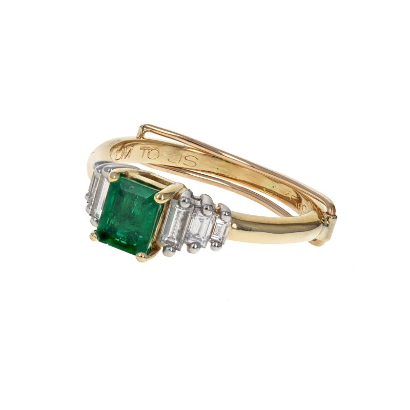 Estate Radcliffe Diamond & Emerald Ring