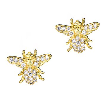 Tiny Jewels Bee Earrings