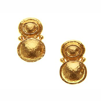 Stacked Oval Domed Earrings