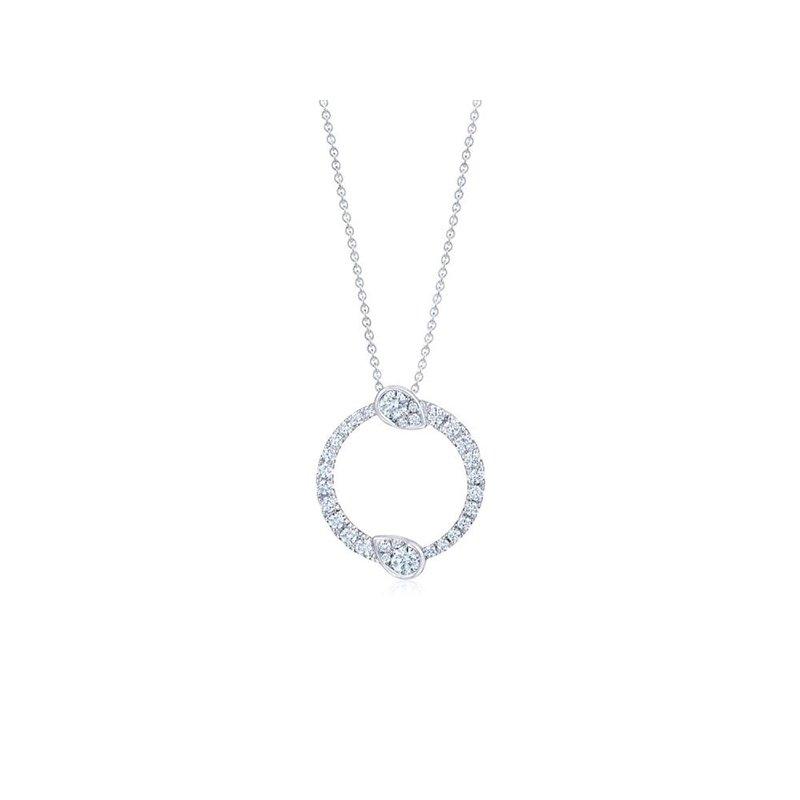 Kwiat Eclipse Large Pendant with Diamonds
