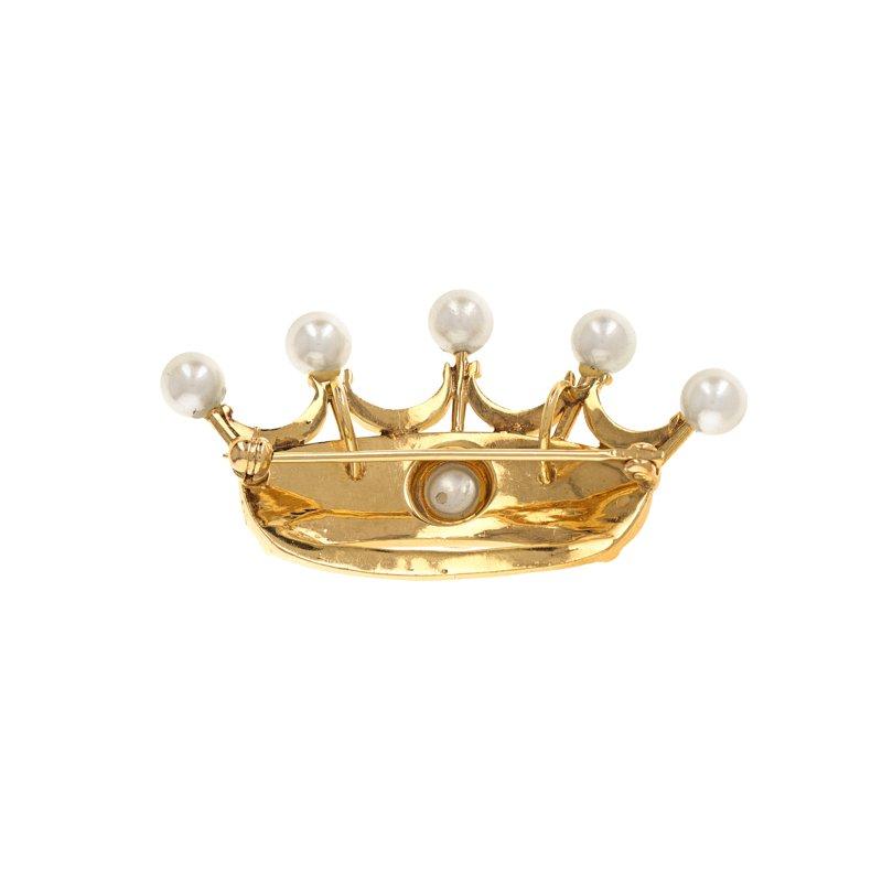 Estate Radcliffe Pearl Crown Pin / Pendant