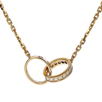 Interlocking Diamond Love Necklace