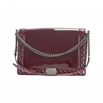 Patent Leather Boy Bag