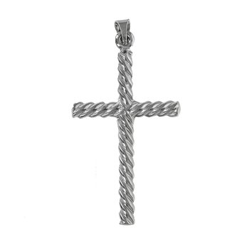 Twisted Rope Cross Pendant