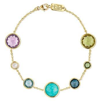 Lollipop 7-Stone Link Bracelet