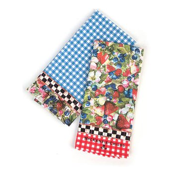 Berries & Blossoms Dish Towels, Set of 2