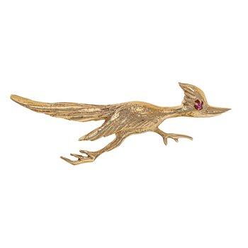 Road Runner Bird Brooch