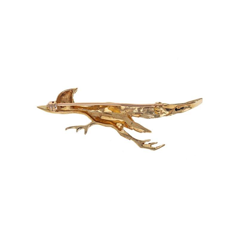 Estate Radcliffe Road Runner Bird Brooch