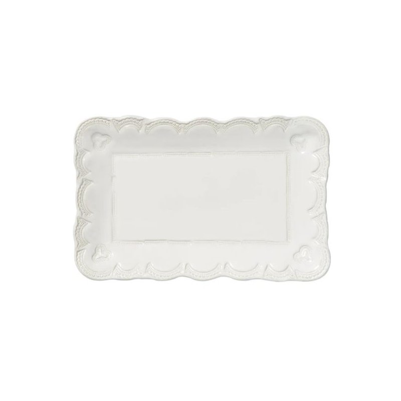 Vietri Incanto Stone Lace Rectangular Platter- Small