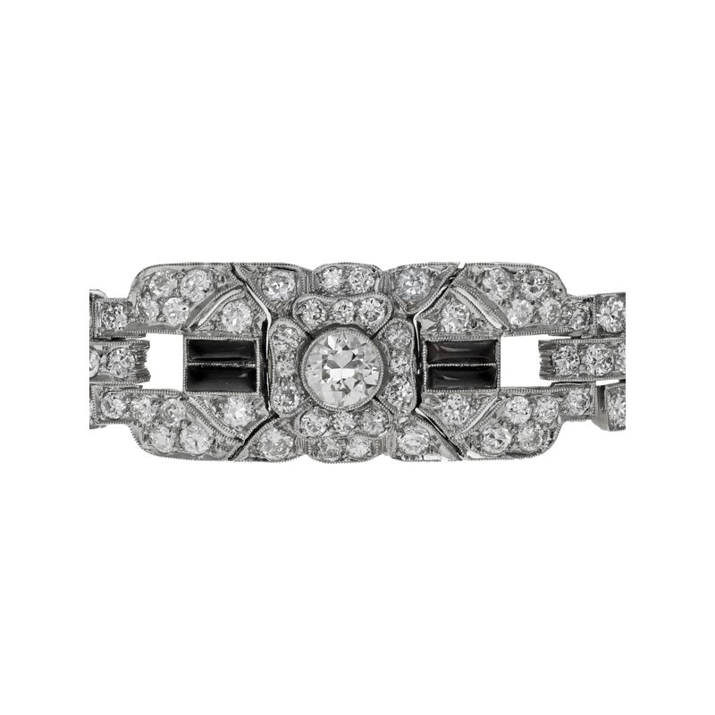 Estate Radcliffe Art Deco Diamond & Onyx bracelet