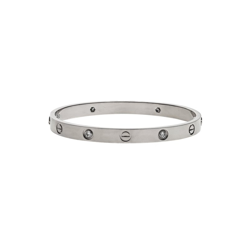 Estate Cartier 4 Diamond Love Bracelet