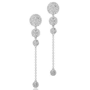 Infinity Graduated Four Drop Earrings