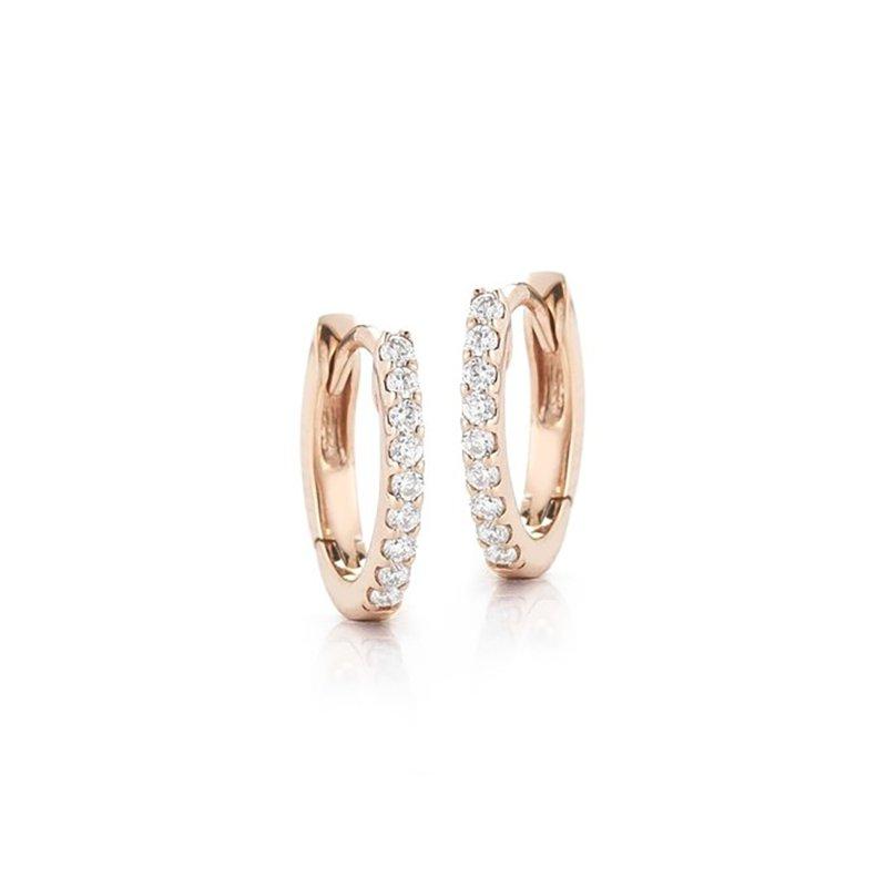 Dana Rebecca Designs Small Diamond Huggie Earrings