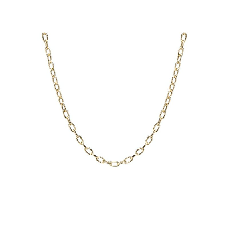 Zoe Chicco Medium Square Oval Link Chain Necklace