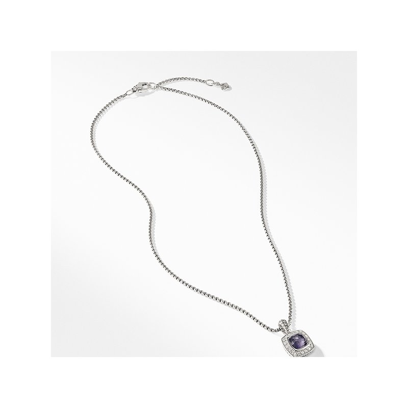 David Yurman Pendant Necklace with Black Orchid and Diamonds