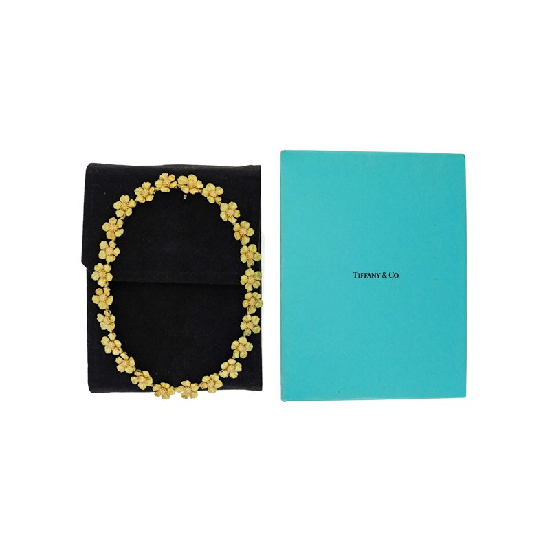 Estate Tiffany & Co. Dogwood Flower Necklace