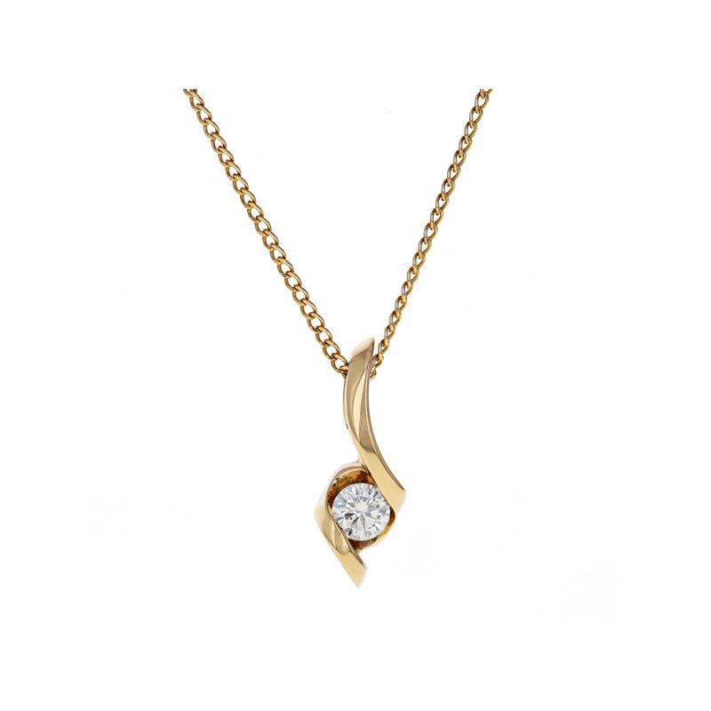 Estate Radcliffe Asymmetrical Diamond Drop Necklace