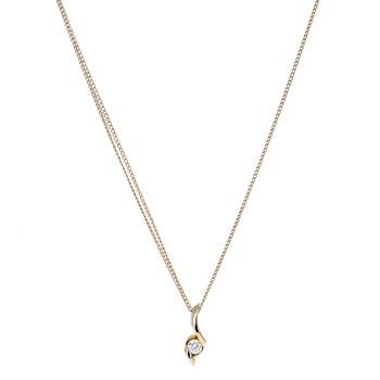 Asymmetrical Diamond Drop Necklace