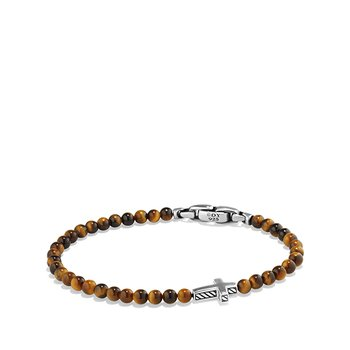 Spiritual Beads Cross Station Bracelet with Tigers Eye