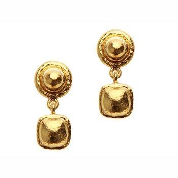 Gold Drop Stud Earrings