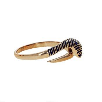 Enamel & Diamond Snake Ring