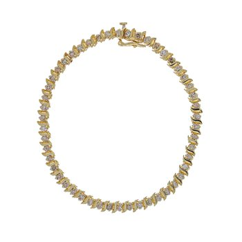 """S"" Link Diamond Tennis Bracelet"
