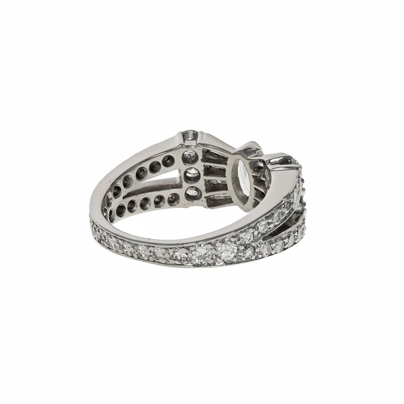 Estate Radcliffe Platinum Diamond Bow Ring